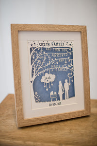 Personalised Family Paper-Cut