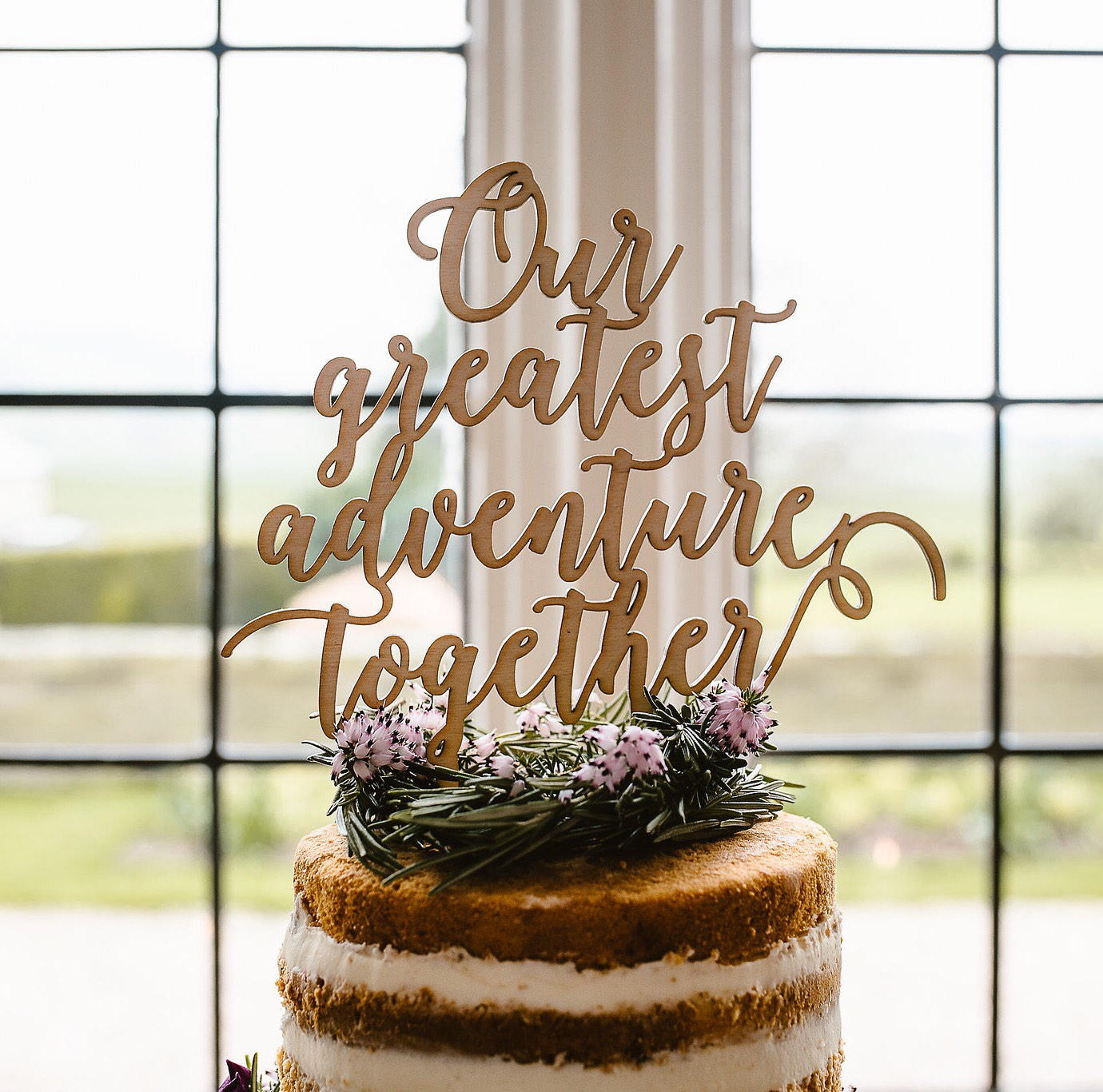 Our greatest adventurer together wedding cake topper