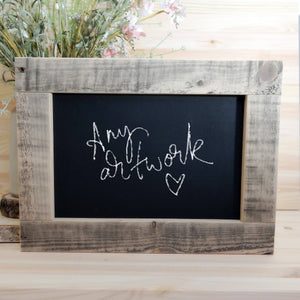 Personalised handmade chalkboard wedding sign