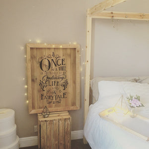 Reclaimed Fairytale Wooden Wedding Sign