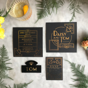 Art Deco Wedding Invitation Collection