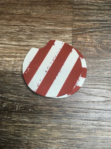 Red Stripe Car Coaster