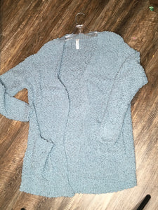 Slate Blue Popcorn Sweater