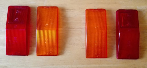 <p>NOS set of original taillight lenses, in Brand New condition, to fit the first series of the Fiat 125 and some models of t