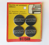 NOS Fiat Logo Wheel Hub Center Caps Emblem Badge Self Adhesive Sticker Set of 4