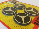 "<p>Vintage set of 4 self adhesive Mercedes emblems, diameter is 40 mm - 1.57"" inches.</p> <p>These could be applied to your c"