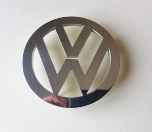 <p>VW Beetle hood emblem. Made of high grade aluminum (4 mm thickness), it will not rust and will give your car a beautiful v