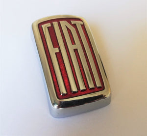 <p>Very rare Fiat metal emblem.</p> <p>Fits many early Fiat models, please check pictures for size and other details.</p> <p>
