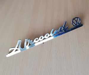 <p>Custom Air Cooled decklid script with VW logo. Best fitted on your decklid in replacement of the original model script but