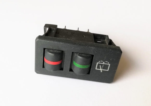 <p>Rear wiper switch to fit some models of Fiat X1/9, Ritmo and Strada (Black Color)</p> <p>New old stock (NOS), these switch