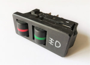 <p>Rear fog light switch to fit some models of Fiat X1/9, Ritmo and Strada (Black Color)</p> <p>New old stock (NOS), these sw