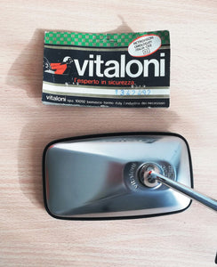 <p>NOS (New Old Stock) chrome Vitaloni 30002 III mirror that has been kept in storage for many years, never used or installed