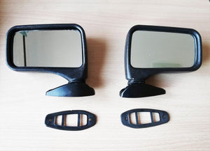 <p>Set of 2 flag style (Left and Right) side-view mirrors that would look awesome and period correct on many classic cars fro