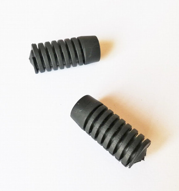 <p>Set of 2 brand new screw-in adjustable hood / trunk lid rubber supports.</p> <p>Fits many 60s and 70s and 80s Italian cars