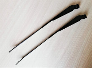 <p>Set of 2 Black NOS Cordera Brand bayonet type wiper arms to fit many 70s and 80s Fiat and other Italian cars including X1/