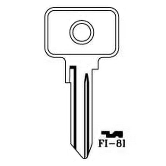 <p>Brand new key blank to fit many classic Italian cars and other vehicles including Autobianchi A112 Abarth, Elite, Junior (