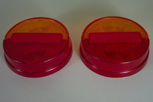 <p>Brand new tail light lens set of two, to fit the Fiat 850 N/S serie II, Fiat 850 Sport Coupe, Fiat 1100 R. Also fits Lanci