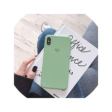 Load image into Gallery viewer, Simple Solid I Love U iPhone 11 Pro X 7 Case for iPhone Xs Max Xr Women Anti Fall Phone 6S TPU Soft Case 8 7plus Back Cover,for iPhone 11pro,M Matcha Green