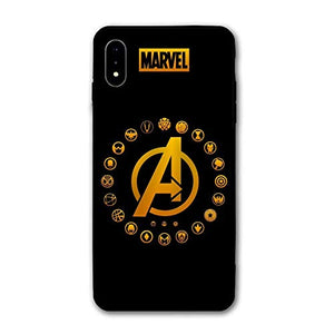 iPhone XR Case,Comics Anti-Scratch Ultra-Thin Mobile Phone Shell Custom for iPhone XR Only 6.1 inches (Avengers-4)