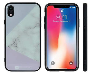 iPhone XR - Slim fit Case - Pink & Lavender Marble - Artistic - 9H Tempered Glass Protective Heavy Duty, Sleek & Stylish Cover - Designed for iPhone: 7, 8, 7Plus, 8Plus, X, XS, XS Max, XR. (Renewed)