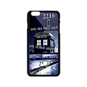 CASE LOCK LTD - Doctor Who Tardis Police Call Box -Hard Rubber Case Compatible with New Apple iPhone 11 Pro MAX (6.5 inch 2019 Model), Made in USA Style 7 Includes 3 Screen Protectors