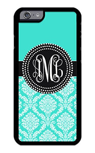 Custom Phone Case iPhone 7 Case iZERCASE Monogram Personalized Damask Colorful Multi-Colored Pattern for Apple iPhone 7 (Maroon)