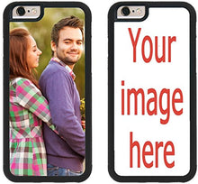 Load image into Gallery viewer, Custom iPhone Cases iPhone 7, iPhone 8 iZERCASE [Personalized Custom Picture CASE] Make Your Own Phone Case (Black)