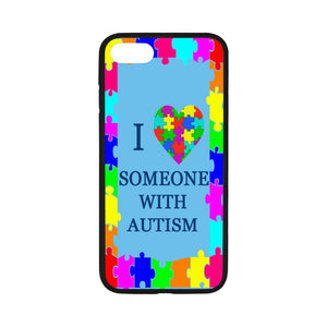 "Artsbaba iPhone 7 Case 4.7"", I Love Someone with Autism Phone Case for iPhone 7 Flexible Slim Fit TPU Anti-Scratch Back Cover"