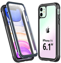 Load image into Gallery viewer, Temdan iPhone 11 Case,Full Body Built in Screen Protector Multi-Directional Bumper Case Support Wireless Charging, Heavy Duty Rugged Dropproof Cases for iPhone 11 6.1 inch 2019- (Black/Clear)