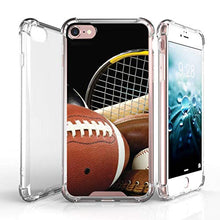 "Load image into Gallery viewer, TurtleArmor | Compatible with Apple iPhone 7 Case | (4.7"") [Flexible Armor] Resistant Slim Fitted Flexible TPU Clear Case Bumper Cover Sports and Games - Boxing Gloves"