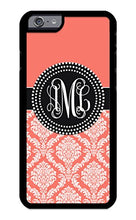 Load image into Gallery viewer, Custom Phone Case iPhone 7 Case iZERCASE Monogram Personalized Damask Colorful Multi-Colored Pattern for Apple iPhone 7 (Maroon)
