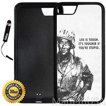 Load image into Gallery viewer, Custom iPhone 7 Case (John Wayne Quote) Edge-to-Edge Rubber Black Cover Ultra Slim | Lightweight | Includes Stylus Pen by Innosub