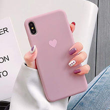 Load image into Gallery viewer, Ninetee Soft TPU Phone Cases for iPhone X Xs Max XR XS Love Heart Case for iPhone 7 8 7plus 8plus Cute Candy Color Back Cover Coque (Rose, for iPhone Xs Max)