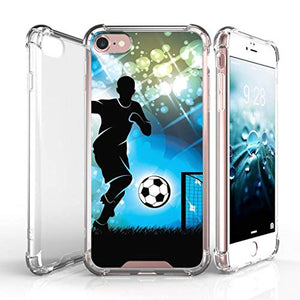 "TurtleArmor | Compatible with Apple iPhone 7 Case | (4.7"") [Flexible Armor] Resistant Slim Fitted Flexible TPU Clear Case Bumper Cover Sports and Games - Boxing Gloves"