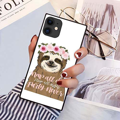 iPhone 11 2019 6.1 Inch Case Square Edge Case Heavy Duty Protection Shock Absorption Slim Soft TPU Cover Bullet in Lips Pattern for iPhone 11 6.1 Inch