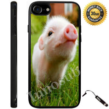 Load image into Gallery viewer, Custom iPhone 7 Case (Cute Piglett Baby Pig) Edge-to-Edge Rubber Black Cover with Shock and Scratch Protection | Lightweight, Ultra-Slim | Includes Stylus Pen by Innosub