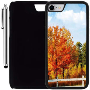 Custom Case Compatible with iPhone 7 (4.7 inch) (Vintage Autumn Tree) Plastic Black Cover Ultra Slim | Lightweight | Includes Stylus Pen by Innosub