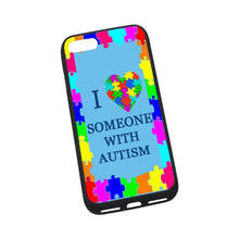 "Load image into Gallery viewer, Artsbaba iPhone 7 Case 4.7"", I Love Someone with Autism Phone Case for iPhone 7 Flexible Slim Fit TPU Anti-Scratch Back Cover"