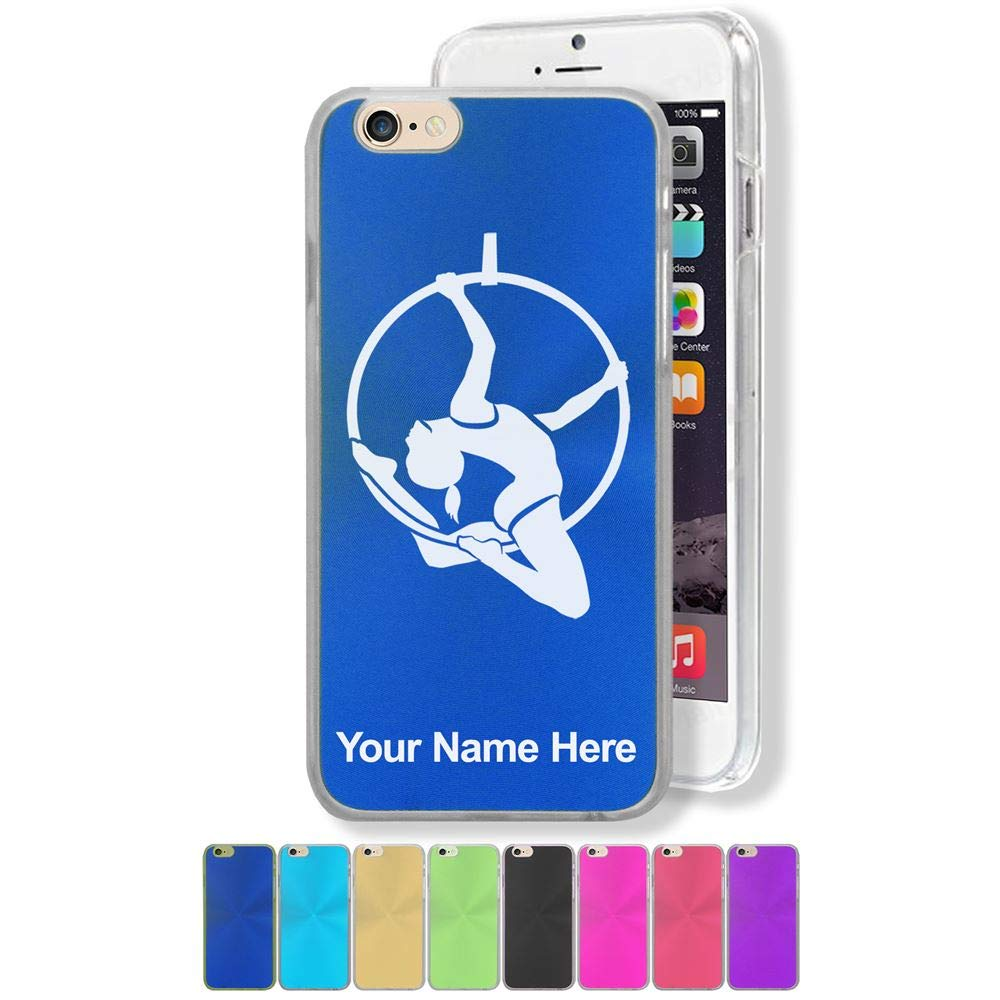 Case Compatible with iPhone 7 and iPhone 8, Aerial Hoop, Personalized Engraving Included