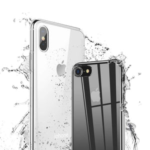 Tuff by Momo Apple iPhone 8, iPhone 7 and iPhone 6/6s Ultra Hybrid Slim Clear Case with Screen Protector, 4.7 Inch, Drop Proof Tested, Shock Proof Bumper Cover Protection, Anti-Scratch PC Clear Back