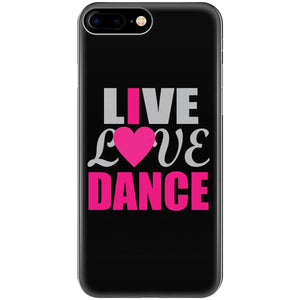 Live Love Dance Typography Awesome Design Theme Love - Phone Case Fits Iphone 6 6s 7 8