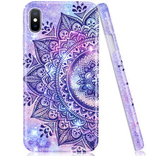 Load image into Gallery viewer, Emogins Custom Phone Case for Apple iPhone Xs Max with Floral Pattern, Soft Rubber Silicone Bumper Hard Back Protective Cover - Blue