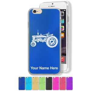 Case Compatible with iPhone 7 and iPhone 8, Old Farm Tractor, Personalized Engraving Included