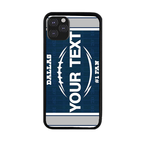 BRGiftShop Personalized Custom Name Football Team Dallas Rubber Phone Case for iPhone 11 Pro Max