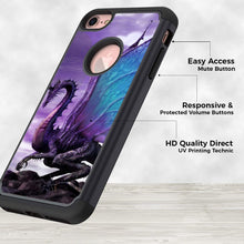 Load image into Gallery viewer, iPhone 8 Case,iPhone 7 Case,Rossy Heavy Duty Hybrid TPU Plastic Dual Layer Armor Defender Protection Case Cover for Apple iPhone 7 & 8 (4.7 inch),Purple Dragon