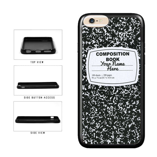 BleuReign(TM) Personalized Custom Name Composition Notebook TPU RUBBER SILICONE Phone Case Back Cover For Apple iPhone 8 and iPhone 7