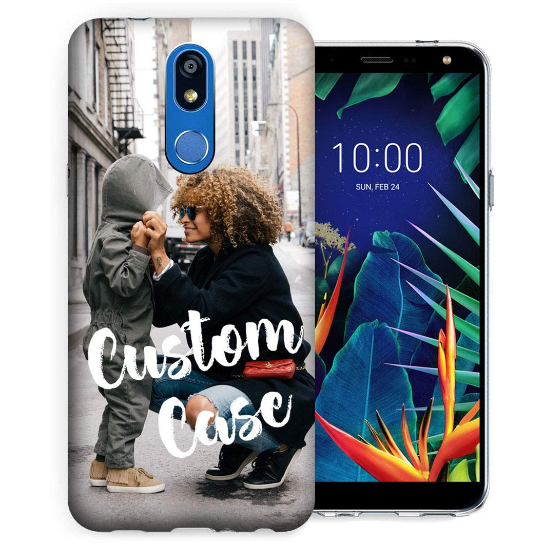 MUNDAZE Personalized Picture Image Photo Phone Case for LG K40, K12 Plus, X4, Solo LTE, Xpression Plus 2, Harmony 3 (2019 Release) - Add Your Own Photo Perfect Custom Case