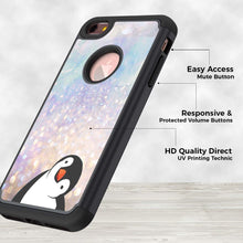 Load image into Gallery viewer, iPhone 7 Case,iPhone 8 Case, Rossy Heavy Duty Hybrid TPU Plastic Dual Layer Armor Defender Protection Case Cover for Apple iPhone 8 2017 / iPhone 7 2016,Black Crooked Neck Penguin