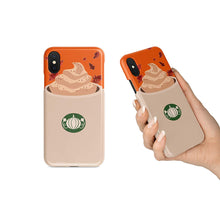 Load image into Gallery viewer, BrilliantCustoms New Cute Pumpkin Spice Latte Fall Autumn Black iPhone Tough Case | iPhone 6 6s 6+ 7 7+ 8 8+ X XS XR Max (iPhone X/XS)
