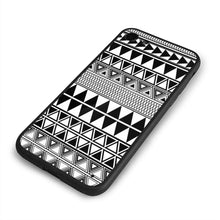 Load image into Gallery viewer, iPhone 7 iPhone 8 Personality Art Painting Black and White Geometric Seamless Borders Vector Image Custom Phone Case, iPhone 7/8 Popular Soft Rubber Case
